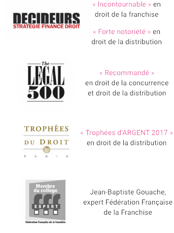 Gouache Avocats - distinctions