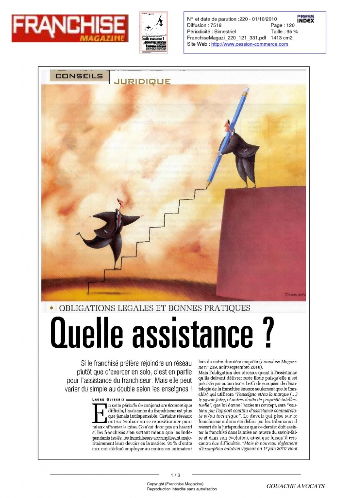 Quelle assistance ? (Franchise magazine)